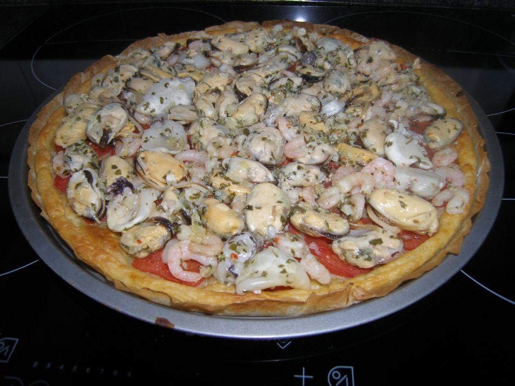 Recette de la pizza aux fruits de mer - Pates aux fruits de mer recette italienne ...